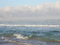 замёрзшие хрустальные волны