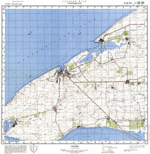 Подробная карта окрестностей Черноморского